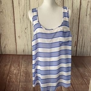 Torrid white and blue striped tank top plus size 2